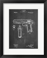 Framed Chalkboard Colt 1911 Semi-Automatic Pistol Patent