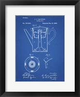 Framed Blueprint Coffee Percolator 1880 Patent Art