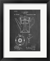 Framed Chalkboard Coffee Percolator 1880 Patent Art