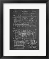 Framed Chalkboard Pin Ball Machine Patent