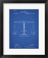 Framed Blueprint Scales of Justice Patent