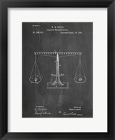 Framed Chalkboard Scales of Justice Patent