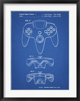 Framed Blueprint Nintendo 64 Controller Patent