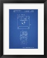Framed Blueprint 3 1/2 Inch Floppy Disk Patent