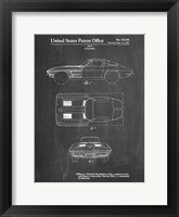 Framed Chalkboard 1962 Corvette Stingray Patent