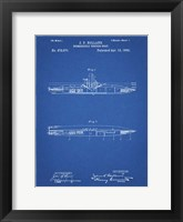 Framed Blueprint Holland Submarine Patent