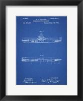 Framed Blueprint Holland Submarine Patent