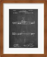 Framed Chalkboard Holland Submarine Patent
