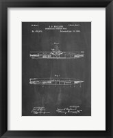 Framed Chalkboard Holland Submarine Patent