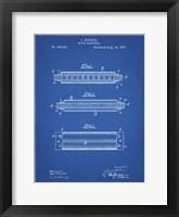 Framed Blueprint Hohner Harmonica Patent