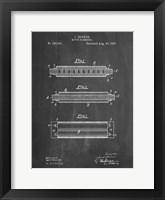 Framed Chalkboard Hohner Harmonica Patent
