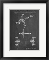 Framed Chalkboard Star Wars B-Wing Starfighter Patent