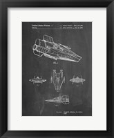 Framed Chalkboard Star Wars RZ-1 A Wing Starfighter Patent