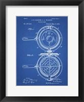 Framed Blueprint Waffle Iron Patent
