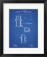 Framed Blueprint Antique Beer Cask Diagram Patent