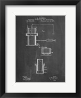 Framed Chalkboard Antique Beer Cask Diagram Patent