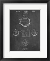 Framed Chalkboard Basketball 1929 Game Ball Patent