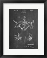 Framed Chalkboard Ship Steering Wheel Patent