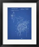 Framed Blueprint Golf Bag Patent
