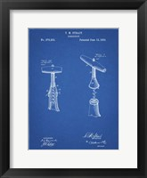 Framed Blueprint Corkscrew 1883 Patent