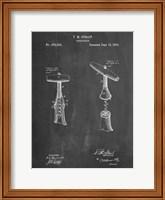 Framed Chalkboard Corkscrew 1883 Patent