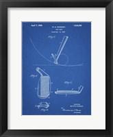 Framed Blueprint Golf Wedge 1923 Patent
