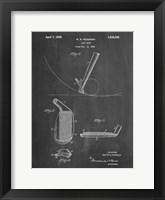 Framed Chalkboard Golf Wedge 1923 Patent