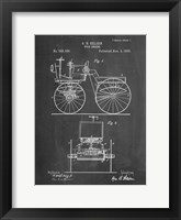 Framed Chalkboard Motor Buggy 1895 Patent Print