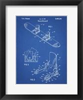 Framed Blueprint Burton Baseless Binding 1995 Snowboard Patent