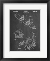 Framed Chalkboard Burton Baseless Binding 1995 Snowboard Patent