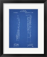 Framed Blueprint Oboe Patent