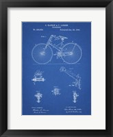 Framed Blueprint Bicycle 1890 Patent