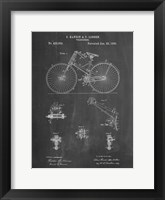 Framed Chalkboard Bicycle 1890 Patent