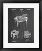 Framed Chalkboard Wurlitzer Butterfly Model 235 Piano Patent