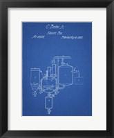 Framed Blueprint Pasteurized Milk Patent