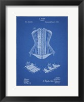 Framed Blueprint Corset Patent