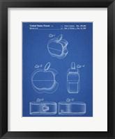 Framed Blueprint Apple Logo Flip Phone Patent