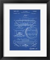 Framed Blueprint Military Self Digging Tank Patent