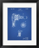Framed Blueprint Vintage Hair Dryer Patent