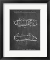 Framed Chalkboard Ballet Slipper Patent