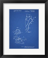 Framed Blueprint Ballet Shoe Patent