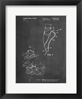 Framed Chalkboard Ballet Shoe Patent