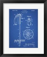 Framed Blueprint Vintage Ski Pole Patent