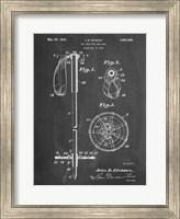 Framed Chalkboard Vintage Ski Pole Patent