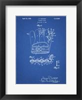 Framed Blueprint Denkert Baseball Glove Patent