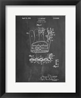Framed Chalkboard Denkert Baseball Glove Patent