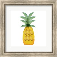 Framed Tropical Icons Pineapple