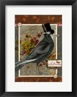 Framed Autumn Crow