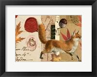 Framed Autumn Fox