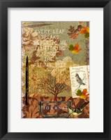 Framed Autumn Leaf